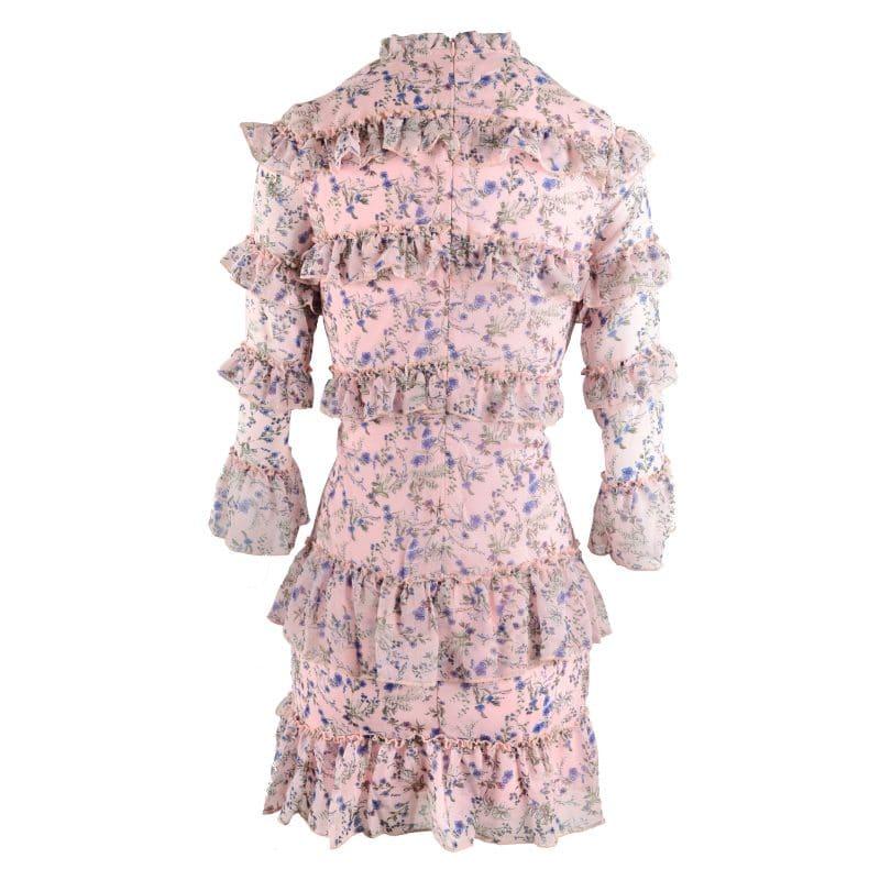 roze jurk bloemen