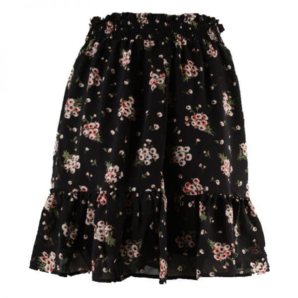 zwarte bloemen rok