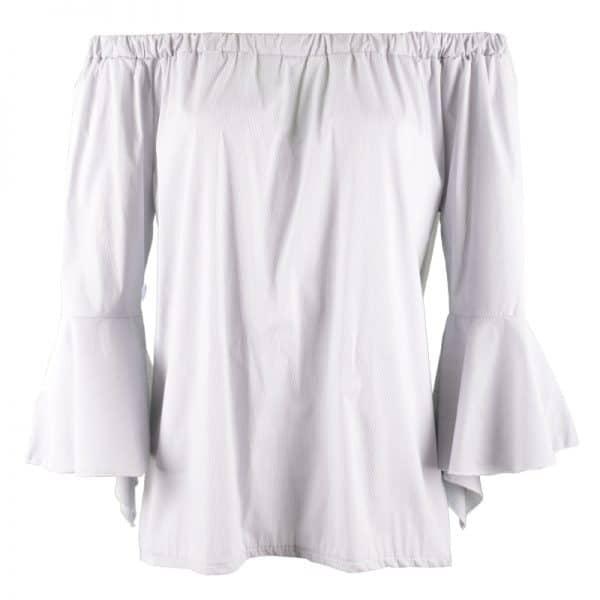 offshoulder blouse grijs met streep