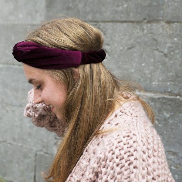haarband bordeaux velvet