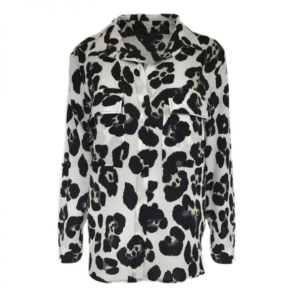 leopard blouse wit