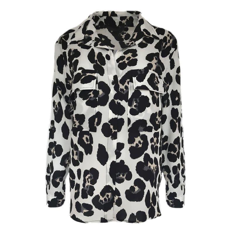 leopard blouse wit