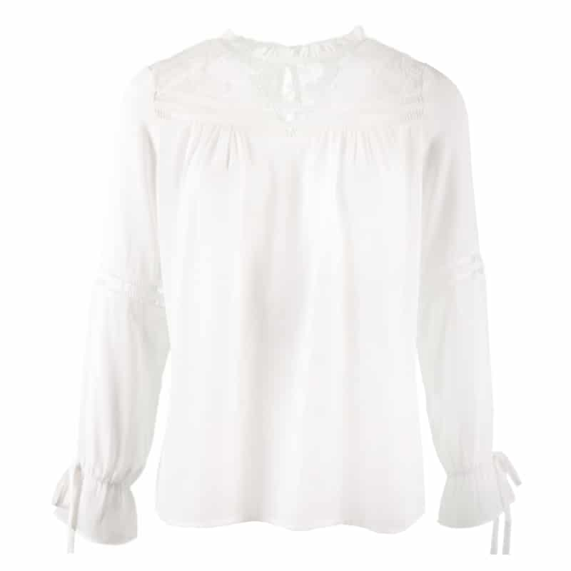 7b7f1880db1554 Overhemden & Blouses | Lacey white - blouse | Mostlikely.nl