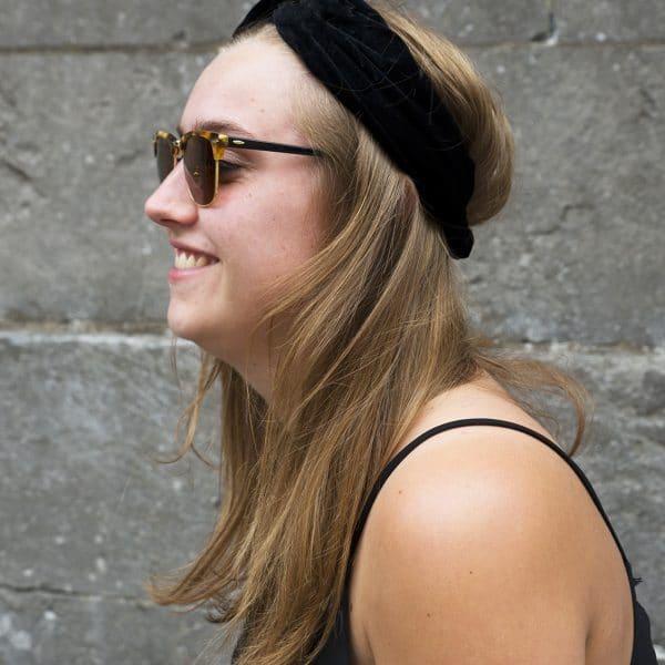 haarband zwart velvet