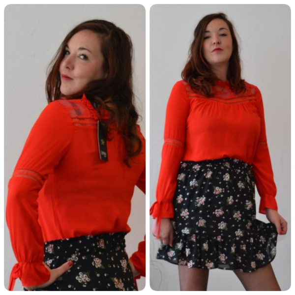 Lacey Red - Blouse