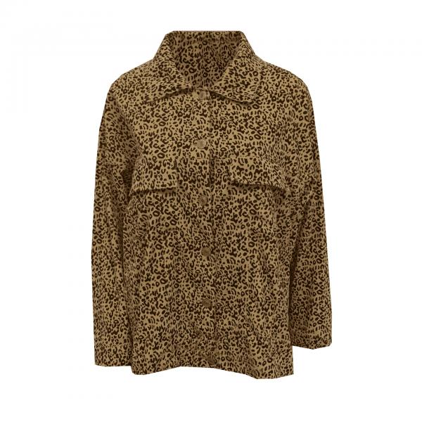 leopard spijkerjas