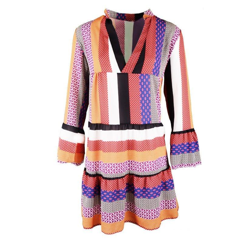 boho jurk met kleurtjes