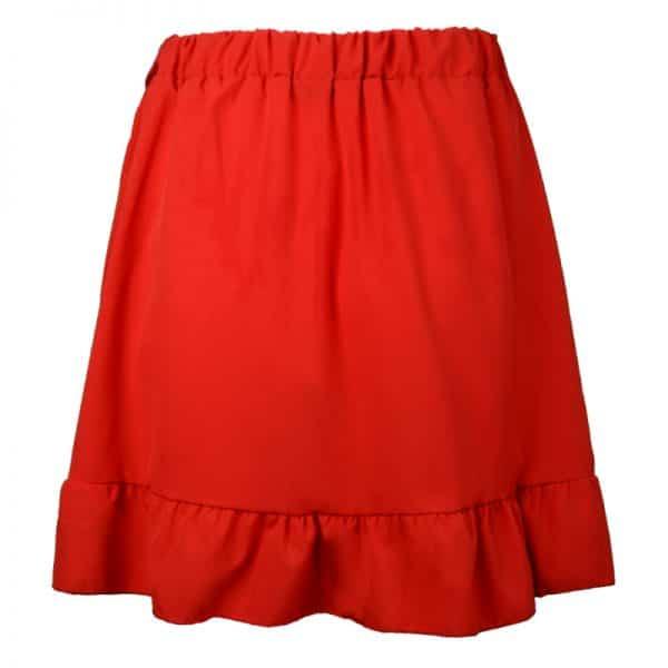 rok rood met roesel en strik