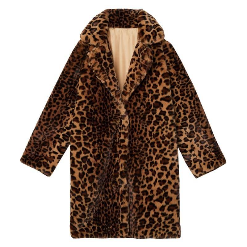 long leopard winterjas