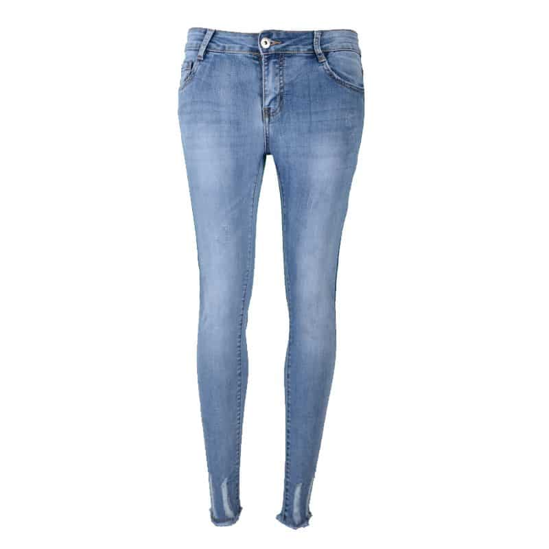 skinnyjeans spijkerbroek damaged