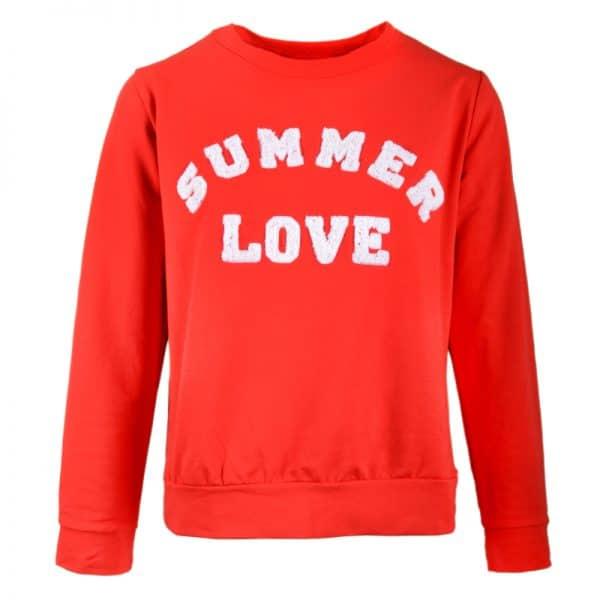 sweater summerlove rood trui