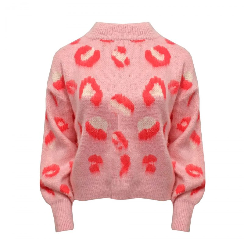 Pink Leopard trui