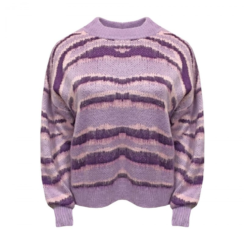 Purple zebra trui