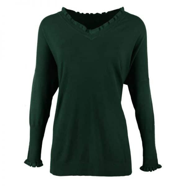 groene trui met ruffles