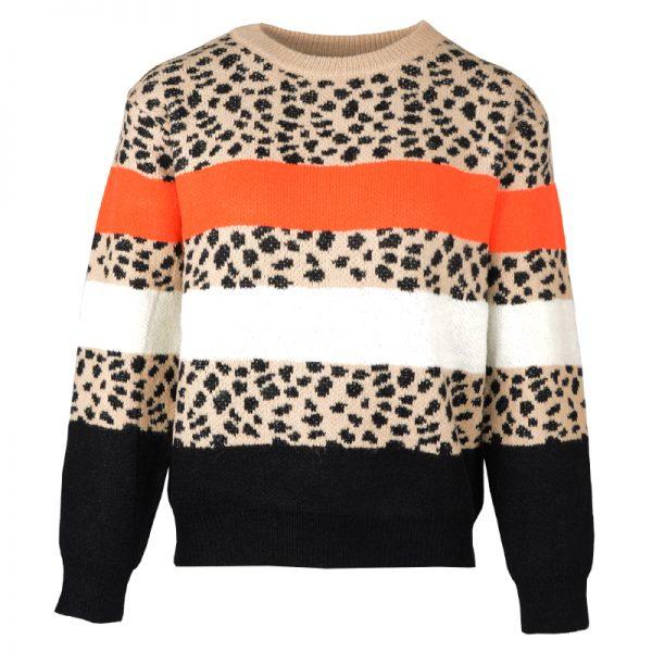trui met leopard strepen